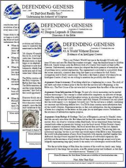 Defending Genesis church bulletin inserts